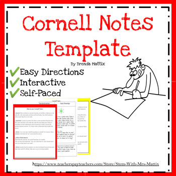Cornell Notes Template for Interactive Science Notebook