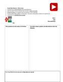 Cornell Notes Template for Video Lectures for a Flipped Classroom