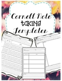 Cornell Notes Templates