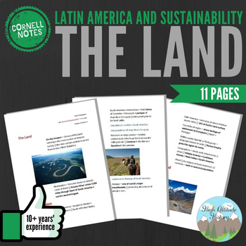 Cornell Notes (The Land) Latin America and Sustainability