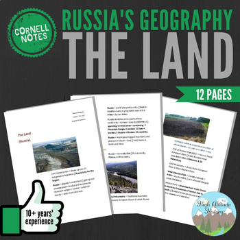 Cornell Notes: (The Land) Russia