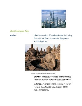 Cornell Notes: (The Land) Southeast Asia