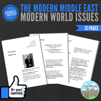 Cornell Notes (The Modern Middle East) Modern World Issues