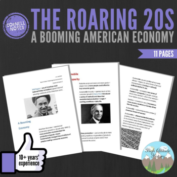 Cornell Notes (The Roaring 20's) A Booming American Economy