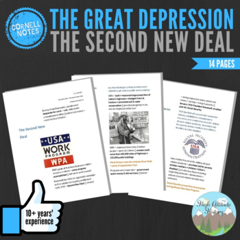 Cornell Notes (The Second New Deal) Great Depression