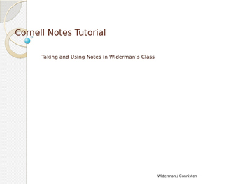 Cornell Notes Tutorial