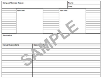 Cornell Notes Variety Pack