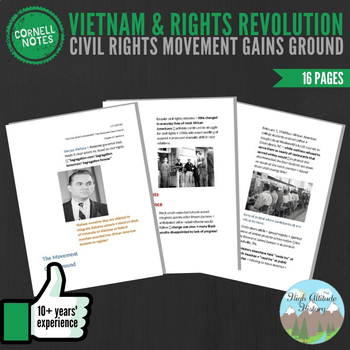 Cornell Notes (Vietnam & Rights Revolution) Civil Rights Movement Gains Ground
