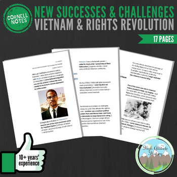 Cornell Notes (Vietnam & Rights Revolution) New Successes & Challenges