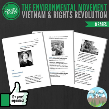 Cornell Notes (Vietnam & Rights Revolution) The Environmental Movement