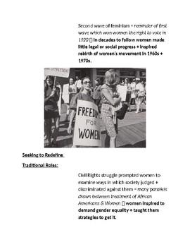Cornell Notes (Vietnam & Rights Revolution) Women's Rights Movement