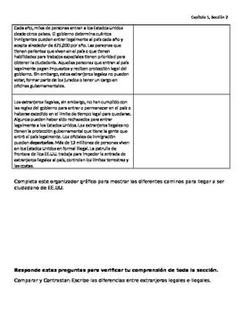 Cornell Notes: Who are American Citizens? Spanish/Espanol
