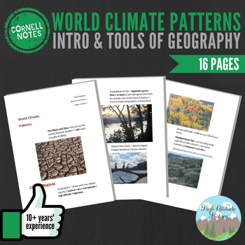 Cornell Notes (World Climate Patterns) Introduction & Tools of Geography