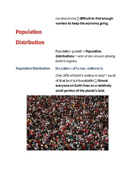 Cornell Notes (World Population) Introduction & Tools of Geography
