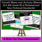 Cornell Notes and Graphic Organizers: ELA Fiction and Non-Fiction Standards