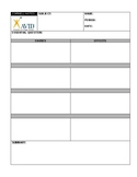 Cornell Notes for Cause and Effect