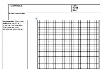 Cornell Notes for Graphing - Math/Science (editable)