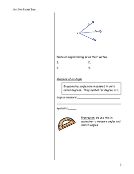 Cornell Notes on Angles