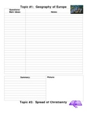 Cornell Notetaking Template for Lectures