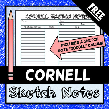 Cornell Sketch Notes - FREE DOWNLOAD!