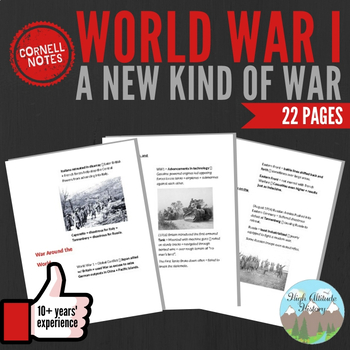 Cornell Notes (A New Kind of War) World War 1 (WWI)