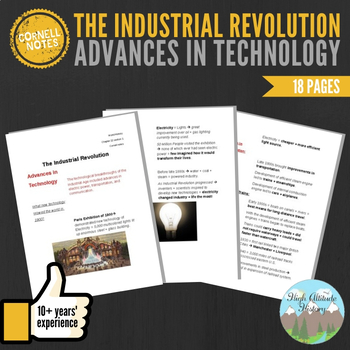 Cornell Notes (Advances in Technology) Industrial Revolution