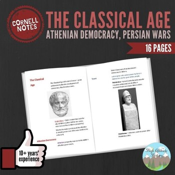 Cornell Notes (Athenian Democracy, Persian Wars, Golden Age of Athens, etc)