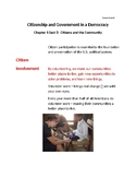 Cornell Notes (Citizens and the Community) Government