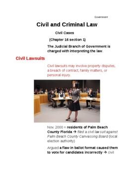 Cornell Notes (Civil and Criminal Law) CIVIL CASES