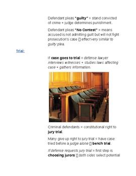 Cornell Notes (Civil and Criminal Law) CRIMINAL CASES