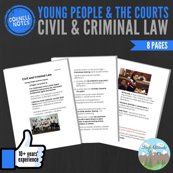 Cornell Notes (Civil and Criminal Law) YOUNG PEOPLE AND THE COURTS