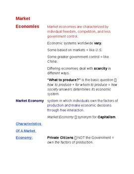 Cornell Notes (Comparing Economic Systems) Economic Systems