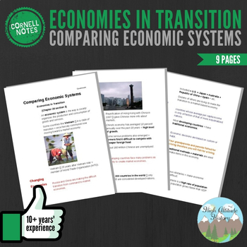Cornell Notes (Comparing Economic Systems) Economies in Tr