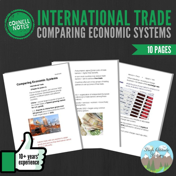 Cornell Notes (Comparing Economic Systems) International Trade