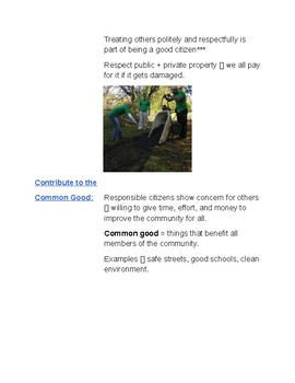 Cornell Notes (Duties and Responsibilities in Democracy)  Government