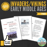 Cornell Notes: Early Middle Ages (Invaders/Vikings)