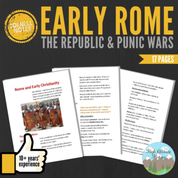 Cornell Notes (Early Rome, the Republic, and Punic Wars)