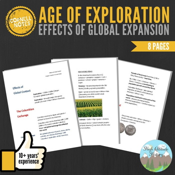 Cornell Notes (Effects of Global Expansion) Age of Exploration