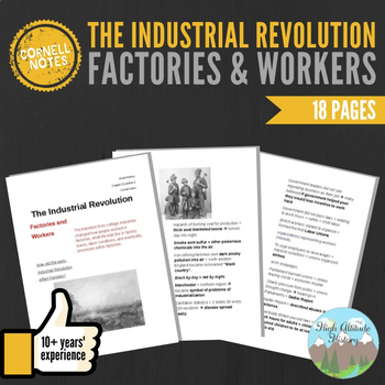 Cornell Notes (Factories and Workers) Industrial Revolution