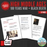 Cornell Notes: High Middle Ages (100 Years War + Black Death)