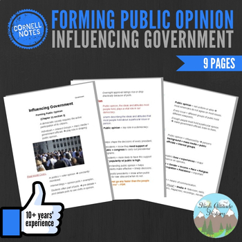 Cornell Notes (Influencing Government) Forming Public Opinion