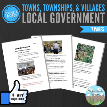 Cornell Notes (Local Governments) Towns, Townships and Villages