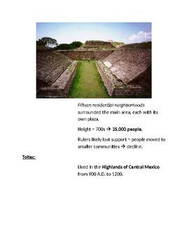 Cornell Notes (Mesoamerican Civilizations)