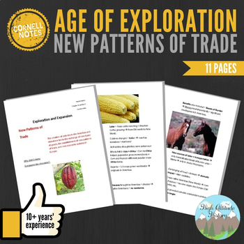 Cornell Notes (New Patterns of Trade) Age of Exploration