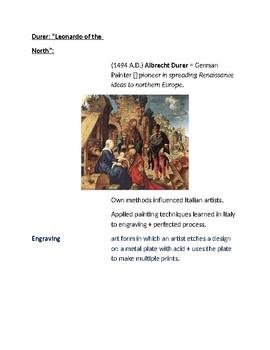 Cornell Notes (Northern Renaissance)