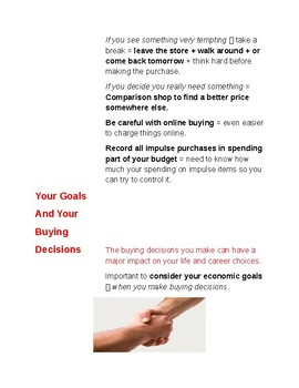Cornell Notes (Personal Finance + Economics) Achieving Your Goals