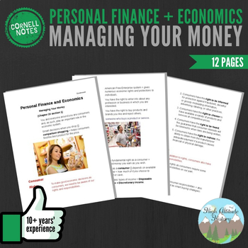 Cornell Notes (Personal Finance and Economics) Managing Your Money