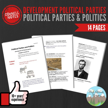 Cornell Notes (Political Parties & Politics) Development Political Parties