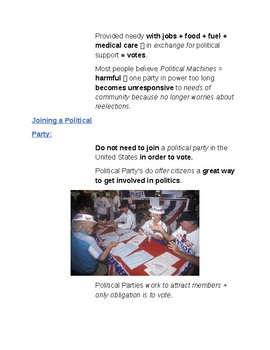 Cornell Notes (Political Parties) Role of Political Parties Today