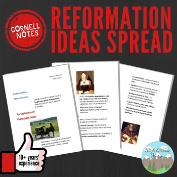 Cornell Notes (Reformation Ideas Spread)